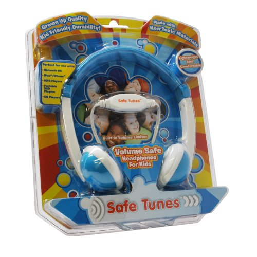 Safe Tunes Saf-7005-Bu Volume Safe Headphones For Kids, Blue