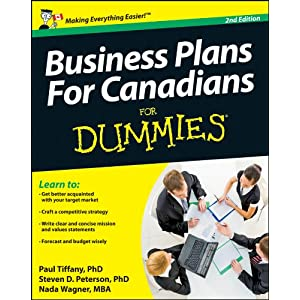 Business Plans For Canadians For Dummies Paul Tiffany