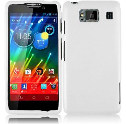 Vmg 2-Item Combo For Motorola Droid Razr Maxx Hd Xt926M Cell Phone Matte Hard Case Cover - White + Lcd Clear Premium Screen Saver Cover Protector [Special Promo Price]