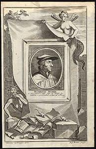 Antique Portrait Print-HULDRYCH ZWINGLI-REFORMATION-SWITZERLAND-Raemond-1690