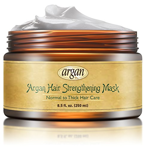 Hair Strengthening Deep Conditioner Mask - Thick Coarse Hair Care - Moroccan Argan Masque for Thinning Brittle Hair Restoration with Long Lasting Conditioning