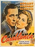 Casablanca Humphrey Bogart Classic French Huge Vintage PAPER Movie Poster Measures 40 x 27 Inches (100 x 70 cm ) approx