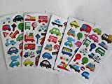 5 x small sheets of dinosaur, T-Rex, Animals, Cars, Insects, Bugs, Fashion Stickers for kids Girls boys, craft, scrap books, card making, gift party bags (5 x Car Stickers)