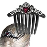 Claddagh Celtic Love Alchemy Gothic Hair Comb