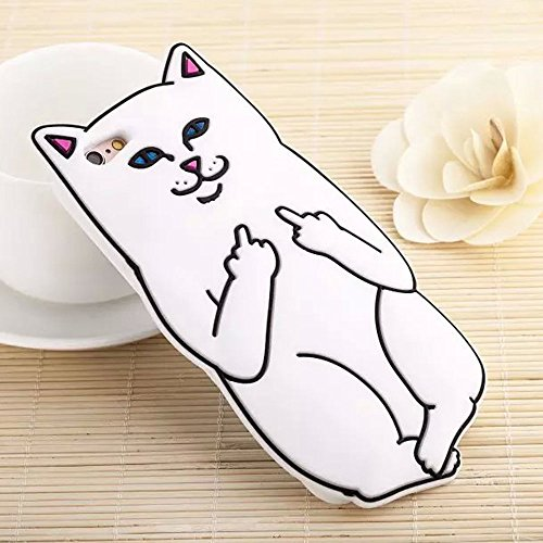 CHOCOCASE iPhone 6/6s Case Lord Nermal White Cat Soft Flexible Silicone Bumper Cover Back Skins Thick High Fashion Brand Unique Cool Cute Lovely Gift for Kids Teen Girls Women Men (Cool Iphone 6 Cases For compare prices)