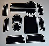 KINMEI(キンメイ) HONDA JADE ジェイド ハイブリッド 白 専用設計 インテリア ドアポケット マット ドリンクホルダー 滑り止め ノンスリップ 収納スペース保護ja-w