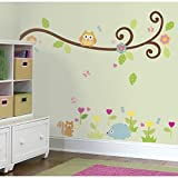 RoomMates Repositionable Childrens Wall Stickers Happi Baby Scroll Branch