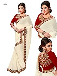 Gokul Vastra Georgette Saree (Pack of 3) (TL-90025_3_White)