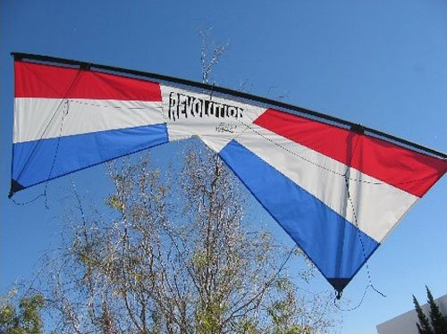 Revolution EXP Quad Line Stunt Kite Red White Blue Made in the USA