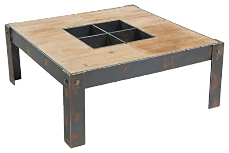Mod Home Collection 35.9-Inch Bolt, Square Coffee Table