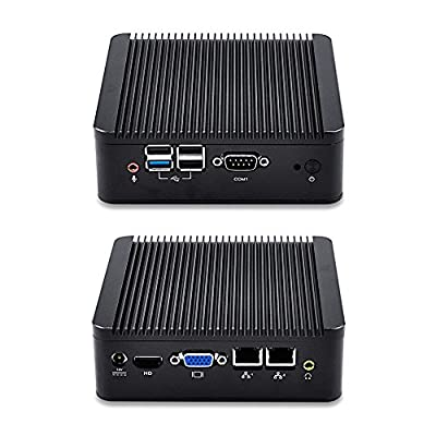 2 ethernet Mini PC with 4GB RAM and 32GB SSD, support 256GB SSD and 1TB HDD, Windows Mini PC HD Video VGA 1080p quad core 2.42 GHz