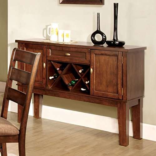 Priscilla Mission Style Antique Oak Finish Buffet Server Cabinet (Buffet Server Antique Style compare prices)