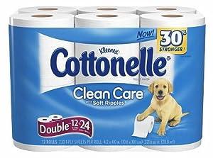 CottonelleCleanCareDoubleRolls12ct[V7H9W3E3]