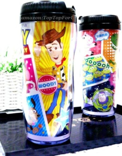 13 Oz Disney Toy Story Woody Buzz Little Green Men Plastic Double Wall Thermos Travel Mug Coffee Tea Cup