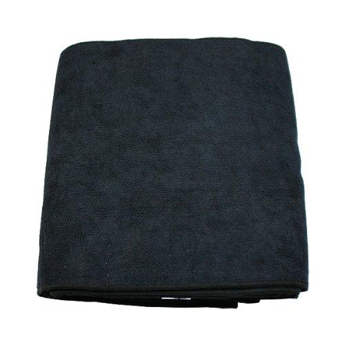 マイクロファイバー ヘア&フェイスタオル ブラック 12枚入り 約34X85cm