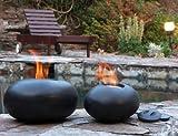 Gel fire, Fire Bowl - Pebble Black Gel Fire Bowl Large