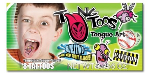 TungToos Candy Tongue Art Pack Boys Theme 8 Tattoos - 1