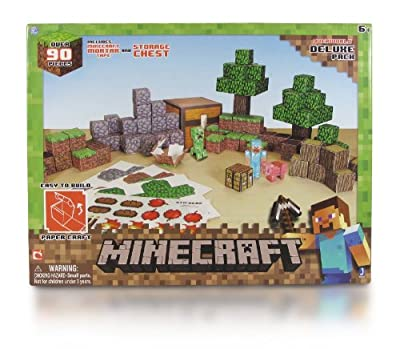 Minecraft Papercraft Overworld Deluxe Set from Minecraft