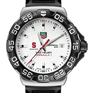 Stanford University TAG Heuer Watch - Mens Formula 1 Watch with Rubber Strap by TAG Heuer