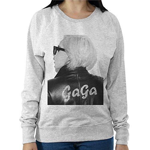 Felpa Leggera Donna Lady Gaga Giacca Di Pelle Nome