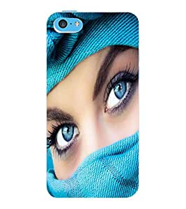 ColourCraft Lovely Eyes Design Back Case Cover for APPLE IPHONE 5C