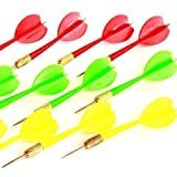 Dazzling Toys Plastic Darts Plastic Soft Tip Brass Dart 2 Dozen