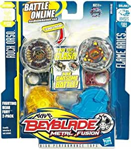 Bey Blade Fighting Bear Fury Rock Orso D125B BB51A et Flame Aries H145FS B109
