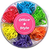 Office+Style Premium Colored Rubber Bands - (approximately 120 pcs)