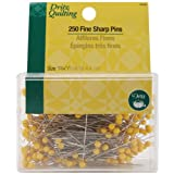 Dritz Quilting Fine Sharp Pins, 1-3/4-Inch Steel, 250 Count