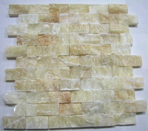 onyx split face 1x2 mosaic tile for kitchen backsplash wall tile