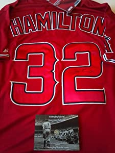 Josh Hamilton Signed Anaheim Angels Authentic Jersey