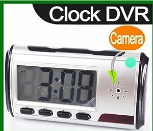 SPY CAMERA HIDDEN CAM CCTV in a DIGITAL ALARM CLOCK for SECURITY with REMOTE CONTROL