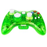 Kycola GC21 Wireless LED Gamepad Controller for Xbox 360 and PC(Green)