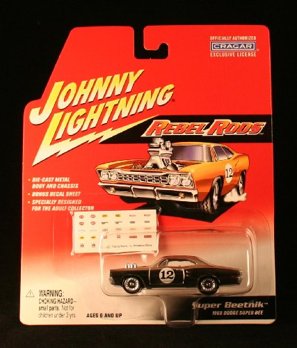 SUPER BEETNIK / 1969 DODGE SUPER BEE * CHROME * Johnny Lightning 2002 REBEL RODS COLLECTION 1:64 Scale Die Cast Vehicle
