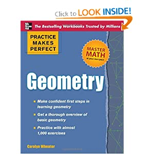 Practice Makes Perfect Geometry (Practice Makes Perfect (McGraw-Hill)) Carolyn Wheater