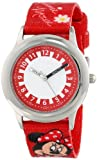Disney Kids' W000292 Minnie Mouse Stainless Steel Time Teacher Watch