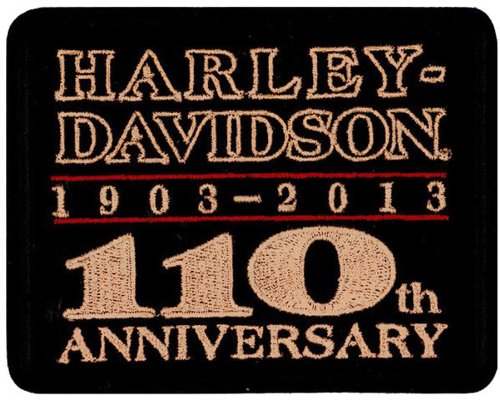 Harley Davidson 110th Anniversary Patch (NEW1)