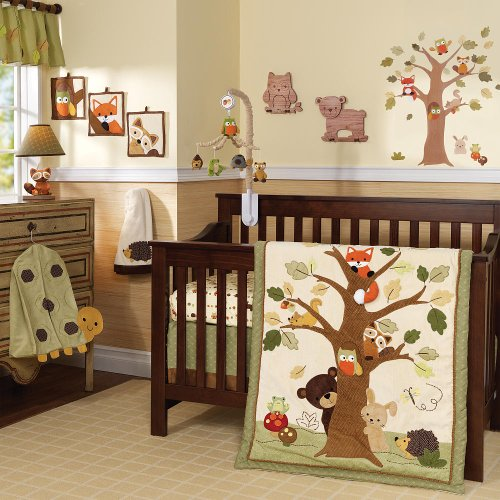 Lambs & Ivy 7 Piece Crib Set - Echo - 1