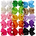 Chiffon 15 Colors 6in Large Big Grosgrain Bows For Hair Clips