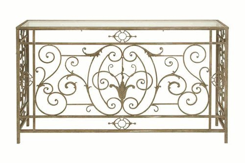 Cheap Benzara 64127 Metal Glass Console Table (B00745WUWA)