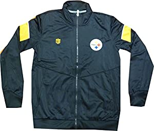 Pittsburgh Steelers Youth Boys Perfomance Full Zip Track Jacket Youth 8-20