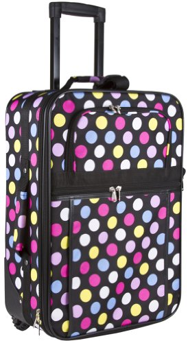 Black  Multicolor Polka Dot Print  Black Trim