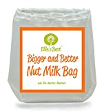 """NUT MILK BAG ★ #1 Big 12""""X12"""" - Use As Cheesecloth - Works Better & Outlasts Cheese Cloth - Fine Mesh Strainer - Vitamix Juicing Without A Juicer - FREE BONUS RECIPE BOOK & HOW TO VIDEO - Longest Lasting - Double Stitched - Reusable - Food Grade Strainer - All-Purpose Nutmilk Bag ★ #1 Rated Blender Juicer - Cold Brew Coffee Maker - Sprouting Bag - Loved by Vegans - Vegetarians - Organic & Paleo - Raw Foodies and Healthy Eaters ★ We 100% Guarantee You Will Love It!"""