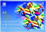 Loew-Cornell Soft Half Pastels, 64-Count