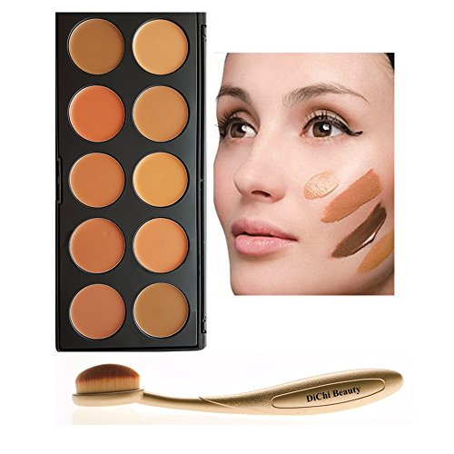 dichi 10 farbe concealer contouring palette mit oval. Black Bedroom Furniture Sets. Home Design Ideas