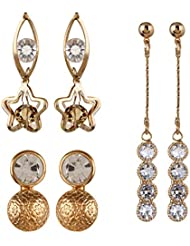 YouBella Presents L'amore Collection Designer Jewellery Earrings For Girls And Women - Combo Of 3 : Best Rakhi...