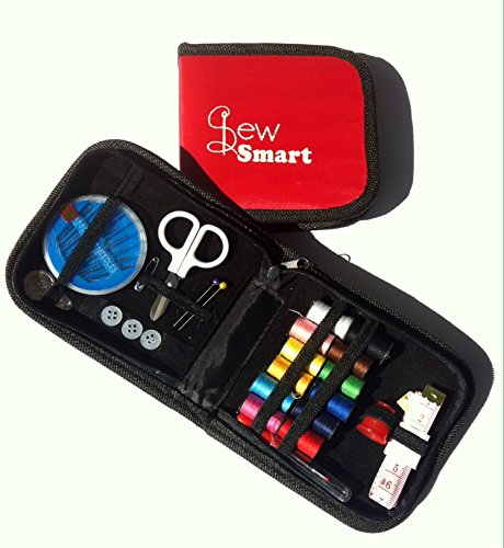 Compact Sewing Tool Kit- Essentials For Any Sewing Emergency, Travel, College, Home, Crafts, School, All The Basic Sewing Supplies- Adults, Teenage, Girls, Boys -Thread And Buttons- Convenient First Mini Starter Kit For School Age Kids - Perfect For Begin front-84218