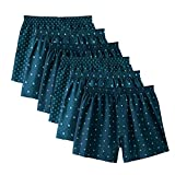 (セシール)cecile プリントトランクス(色違い6枚組セット・前開き)(3×2パック) KT-381 793 ブルー L