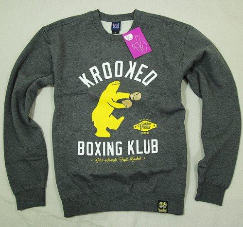 (クルキッド)KROOKED スウェット トレーナー MARK GONZ マーク ゴンザレス Boxing Club Crew Sweatshirt Mサイズ Charcoal Heather(チャコール)