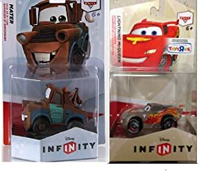 "Disney Infinity Toys""r""us Exclusive Crystal Lightning Mcqueen & Mater Toy Figure 2pc Set"